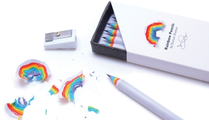 Rainbow pencils by Duncan Shotton Design.