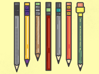 Sample pencil pack on Dribbble.