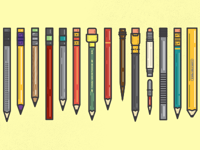 Full collection of vector pencils