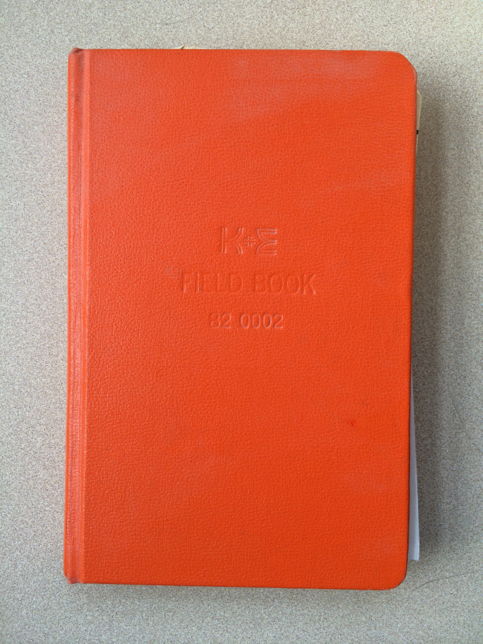 K&E Field Book by Keuffel &  Essel