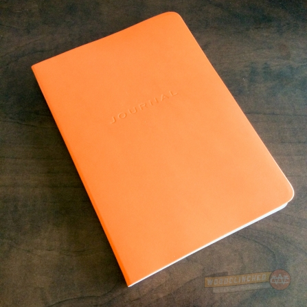 The Gallery Leather Oporto Journal in orange