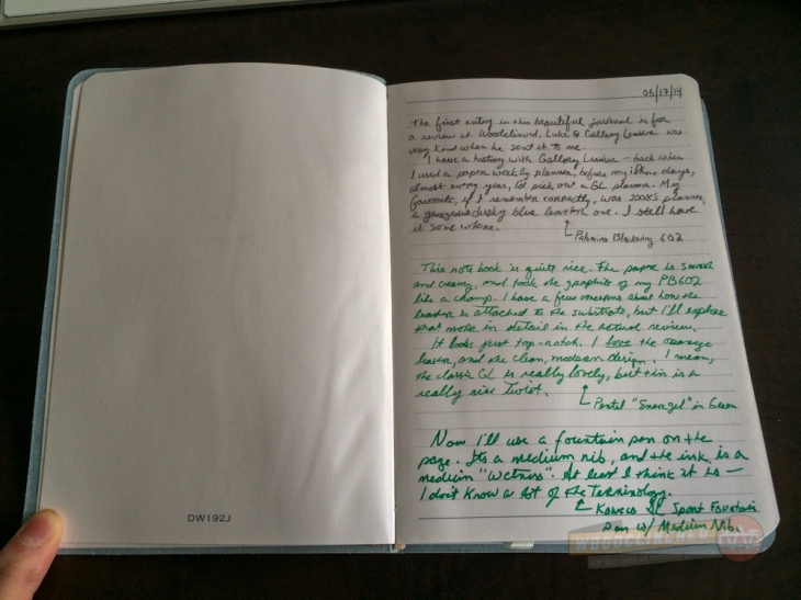 Gallery Leather Oporto Journal page spread