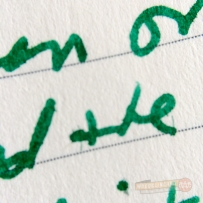 Closeup of markings made with the Kaweco AL Sport fountain pen with a medium nib.