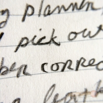 Closeup of markings made with the Palomino Blackwing 602
