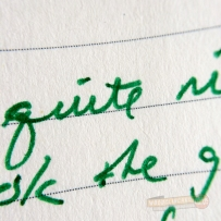 Closeup of writing with the EnerGel pen
