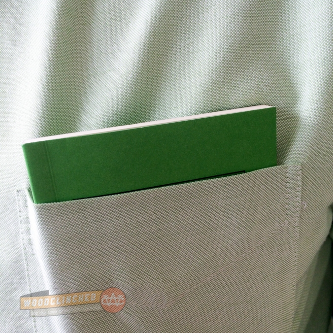 Pocket Department Shirt Pocket notebook in shirt pocket