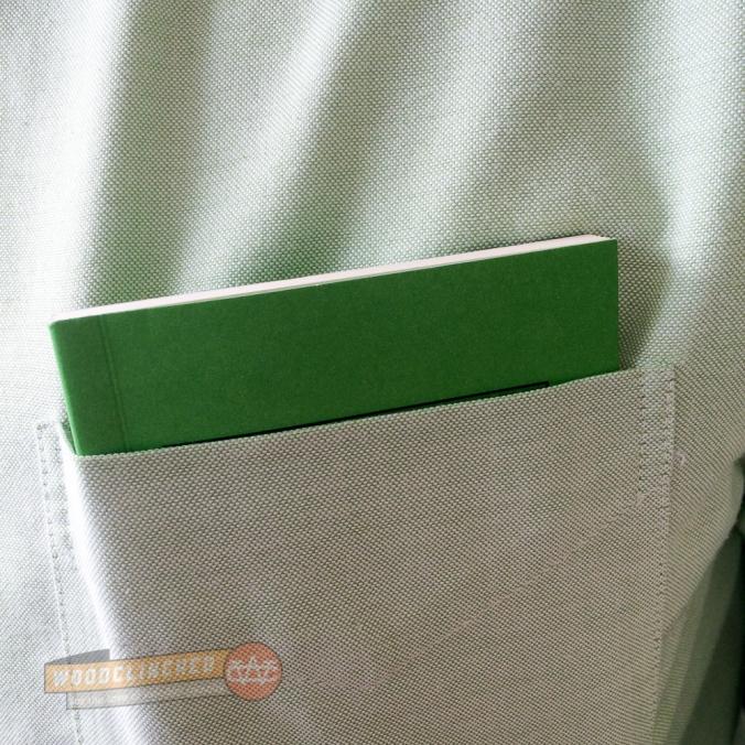 Pocket Department Shirt Pocket notebook in shirt pocket