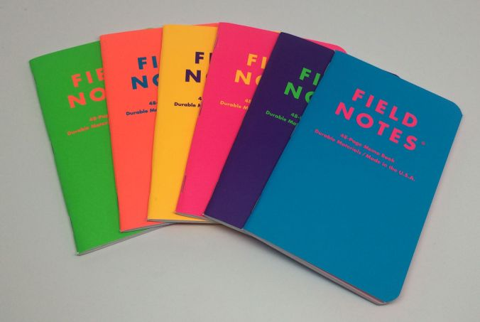 Field Notes Unexposed complete set. Photo by Mike Finneran, posted to the Field Nuts group on Facebok