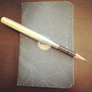 From my Instagram in July, the prototype bullet pencil along with a Word. notebook.