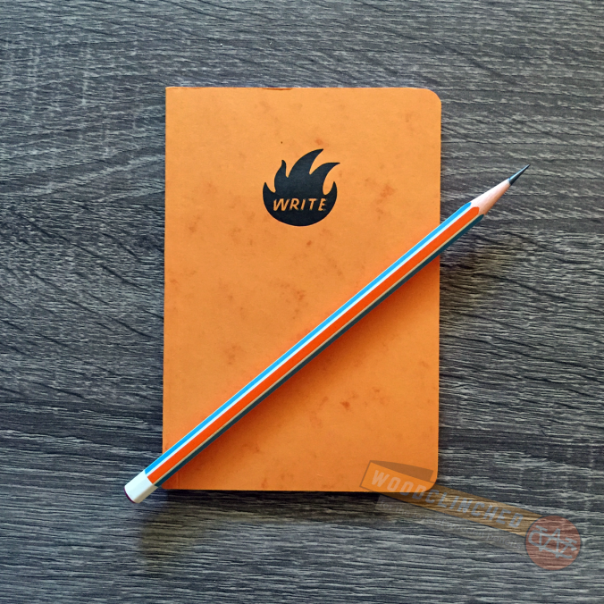 Write Notepads Co. Kindred Spirit edition notepad with a Nataraj Pop pencil
