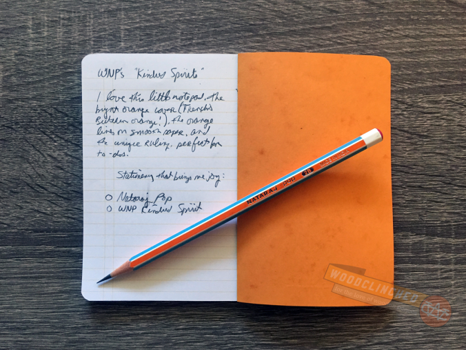 Lining of the Write Notepads & Co Kindred Spirit pocket notebook, seen here with a Nataraj Pop pencil.