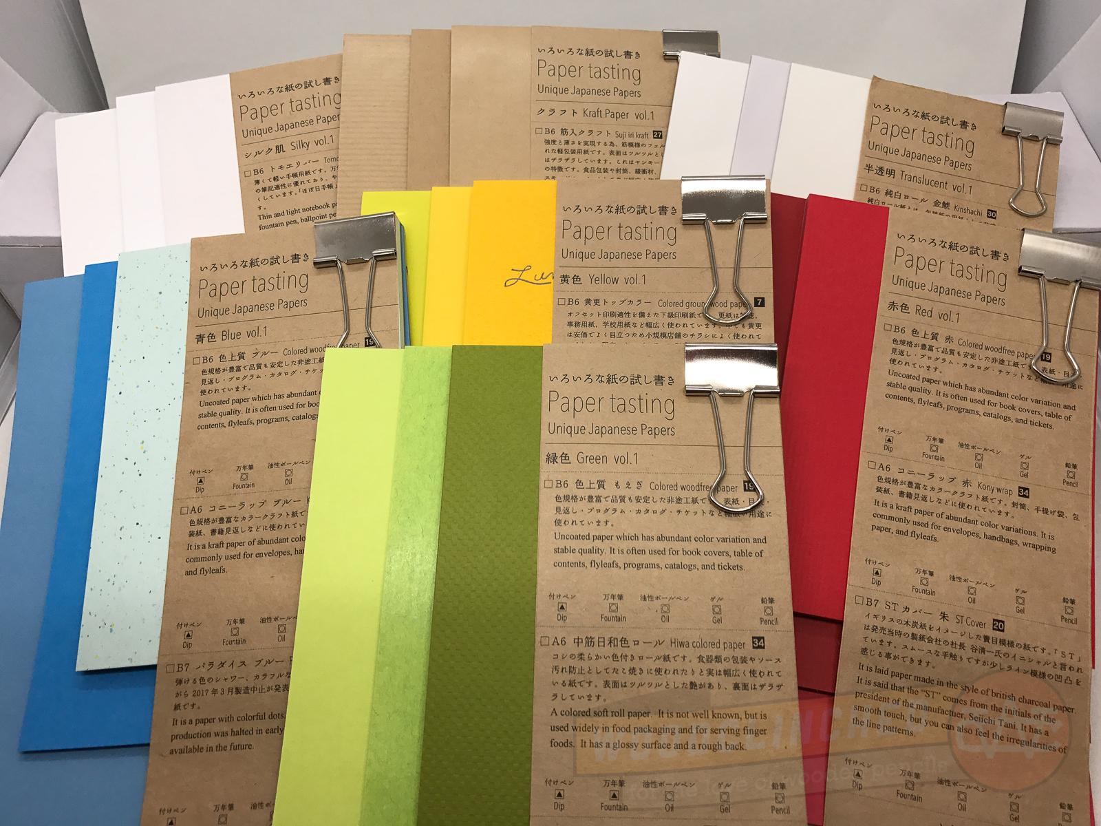 Taiko Yamamoto's Paper Tasting packs